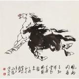 王向阳 四尺斗方《风雨同舟》 中国美术家协会会员(询价)