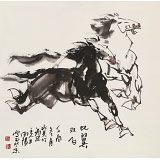 王向阳 四尺斗方《比翼双飞》 中国美术家协会会员(询价)