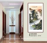 张慧仁 四尺《烟雨归舟图》 广西山水画家协会常务理事
