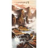 【已售】张慧仁 四尺《金秋哓色图》 广西山水画家协会常务理事