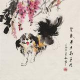 尹和平 四尺斗方《紫气东来财更旺》 当代乡土童趣绘画名家