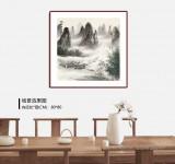 【已售】张慧仁 四尺斗方《清漓神韵图》 广西山水画家协会常务理事