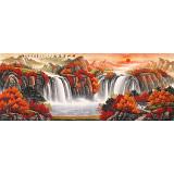 吴东 小六尺《福地安居图》 著名易经风水画家