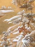 何实 四条屏《春夏秋冬》吉林著名山水画家