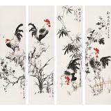 皇甫小喜 四条屏《吉祥四君子》 河南著名花鸟画家