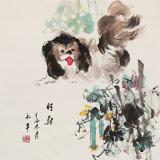 尹和平 四尺斗方《旺财》 当代乡土童趣绘画名家