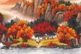 【已售】吴东 小六尺《万山红遍》 著名易经风水画家
