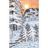 何一鸣 四尺三开《瑞雪》 冰雪画派画家 师从于志学