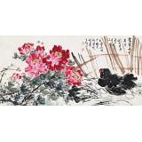 曲逸之 四尺《富贵大吉》 河南省著名花鸟画家