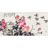 曲逸之 四尺《富贵花开早》 河南省著名花鸟画家