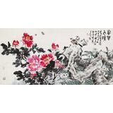 曲逸之 四尺《富贵白头》 河南省著名花鸟画家