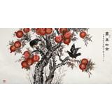 朱祖义 四尺《嘉果幽禽》 中国老子书画院副院长