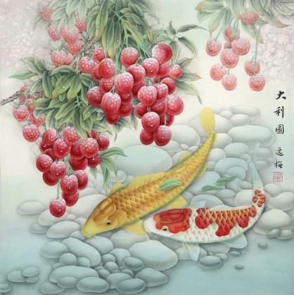 赵逸梅 四尺斗方《大利图》 著名工笔画家