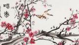 曲逸之 六尺对开《暗香》 河南省著名花鸟画家