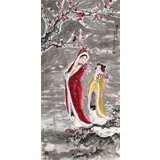南海禅寺 妙林居士 四尺《踏雪寻梅》