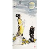 【已售】南海禅寺 妙林居士 三尺《貂蝉拜月》