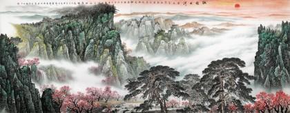 李碧峰 大丈二《壮丽山河》 中国书画家协会理事