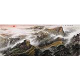 李碧峰 大丈二《长城万里图》中国书画家协会理事