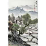 刘金河 作品《皖南山邨》中国美术家协会会员