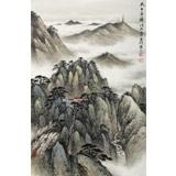 刘金河 作品《天上玉屏》中国美术家协会会员