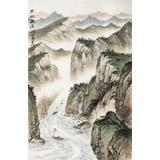 刘金河 作品《巴水激流》中国美术家协会会员