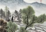 刘金河 作品《皖南山邨》中国美术家协会会员(询价)