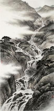 刘金河 四尺《终归大海做波涛》 中国美术家协会会员(询价)