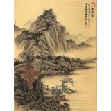 【已售】吴显刚 《秋山渔乐图》贵州七星关美协主席