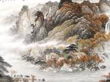 李碧峰 小八尺《金秋放牧图》 中国书画家协会理事