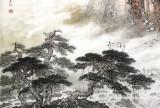 【已售】李碧峰 小八尺《秋山鸣泉图》 中国书画家协会理事