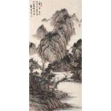 【已售】吴显刚 《溪山清音图》贵州七星关美协主席