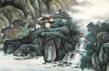 【已售】蒋元发 小六尺《溪山雅居》 广西著名山水画家