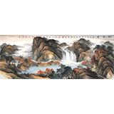 【已售】蒋元发 小六尺《观瀑图》 广西著名山水画家