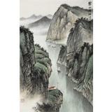 刘金河 《碧水清江》中美协会员 国家画院著名山水画家