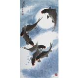 王永刚 三尺六顺图《腾飞》 78岁国家一级美术师