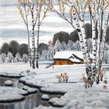 何一鸣 四尺斗方《瑞雪》 冰雪画派画家 师从于志学
