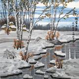 何一鸣 四尺斗方《北国雪韵》 冰雪画派画家 师从于志学