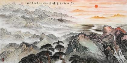 【已售】刘爱成 四尺《江山如此多娇》