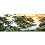 【已售】杨铭昌 小八尺《福地安居图》 安徽山水画研究协会理事