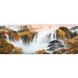 杨铭昌 小六尺《福地安居图》 安徽山水画研究协会理事