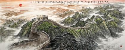 王友金 小八尺《长城万里图》