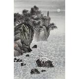 刘金河 《蓬莱夜月》中美协会员 国家画院著名山水画家