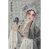 梁健 画戏《惠风和畅》 当代百杰画家 中美协会员 代表作花旦题材