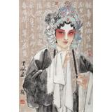 梁健 《戏韵丹青》 当代百杰画家 中美协会员 代表作花旦题材