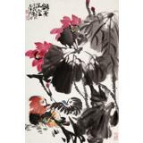 【已售】柳常学 四尺三开《和气满堂》 中国书画家协会理事