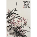 【已售】柳常学 四尺三开《清香远布》 中国书画家协会理事