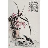 【已售】柳常学 四尺三开《兰香图》 中国书画家协会理事