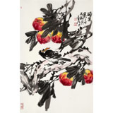【已售】柳常学 四尺三开《硕果累累》 中国书画家协会理事