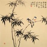 皇甫小喜 四尺斗方《平安图》 河南著名花鸟画家