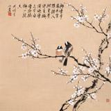 【已售】皇甫小喜 四尺斗方《梅雪争春》 河南著名花鸟画家